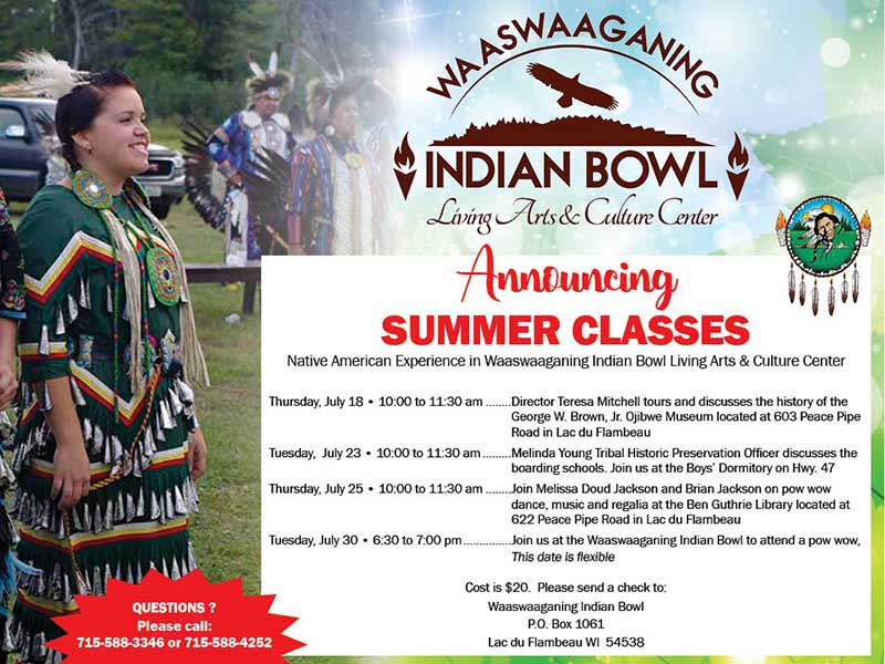 Indian Bowl 2019 Summer Classes
